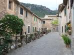 A lovely village with narrow streets