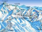 Piste map of La Plagne