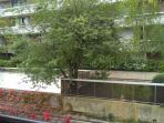 vue sur les jardins voisins