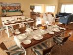 Open-plan dining areas within the Guest House
