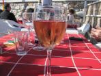 Wine at Ayo's restaurant on Burriana beach