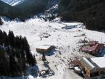 Ariel view of the Ski Zone
