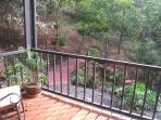 downstairs deck from bedroom