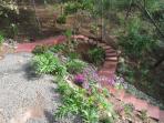 Garden below