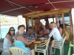 A great day on Husseins boat with friends