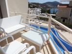 Furnished sea view balcony from double bedroom