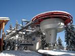 very modern ski lift