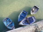 boats in St .Ives harbour
