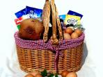 Breakfast Basket full of local and home made produce - our home made bread