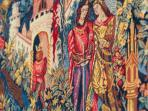 The extract of medieval tapestries