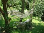 Hammock in Villa Rosa garden