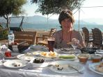 Turkish breakfast on the beach. Try all the local beach clubs - within 10 minutes walk from villa.