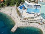 Rijeka beach Kantrida, 10 minutes by car from apartment