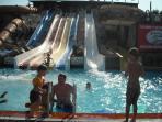 Water slide park, Calis. 10 minutes by Dolmus (minibus), stop opposite villa.