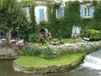 View from the bridge in Brantome