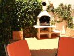Outdoor dining with our large BBQ