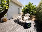 Classic Adirondack chairs on the deck