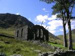 Rhosydd Chapel, Cwmorthin - a fantastic walk high above the cottage