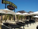 La plage d'Olmeta, à 20 mn de route de la location