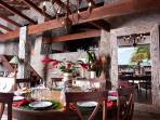 Living room and Dinning area (Dinning table seats 14. 40' Plasma TV)
