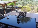 The panoramic veranda bbq corner and view of the large roof to park inside the al fresco!