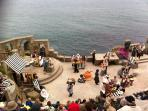 Performance at the stunning Minack Theatre carved into the cliff side