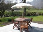 The Patio overlooking the Garden and Hayeswater Beck