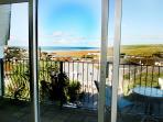 Sea views from living room balcony
