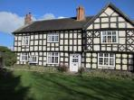 The front view of our beautiful Grade II listed Tudor House