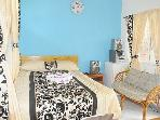 Bedroom two with Air conditioning WIFI, HiFi, Cable TV, combination safe, En-suite bathroom, Kitchen