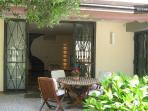 Veranda and living room
