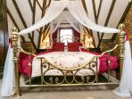 Romantic canopied bed