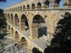 The Pont du Gard - a short way away.