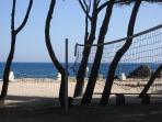 Beach volley sur la plage