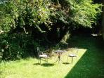 Relax in the sunshine and shade in the secluded part of the garden.