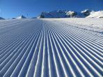 The slopes in Courchevel has probably the best groomed pistes in the world