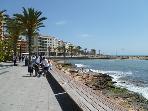 The promenade in Torrevieja