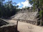 il campo da calcio Maya al sito di Cobà