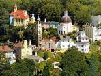 The Itallian village of Portmeirion made famous by the tv series Prisoner