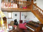 Lounge with mezzanine
