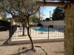 View onto the pool- totally secure with a childproof lockable gate