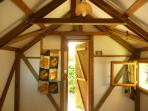 Inside the cabin.