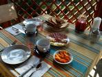 The breakfast at La Casa di Ulisse B&B