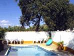 The pool provides welcome relieve from the warm summer days