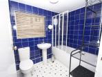Smart new bathroom plus additional 1st floor cloakroom with w.c. & hand basin