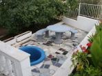 Small balcony in front entrance '' Villa Nena''