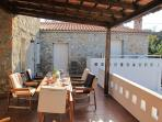 The sunny terrace  - a great place to eat your meals , have a drink and  put the world to rights