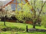 Spring at the Carpathian Log Home