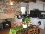 Kitchen of the gite Camélia