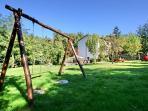 Garden and swings